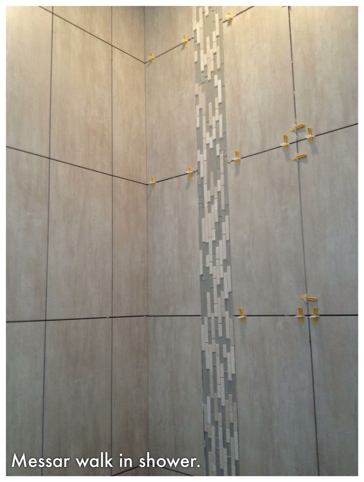Awesome  Bath We Did 4 Different Tiles The Accent Wall Of The Shower Is
