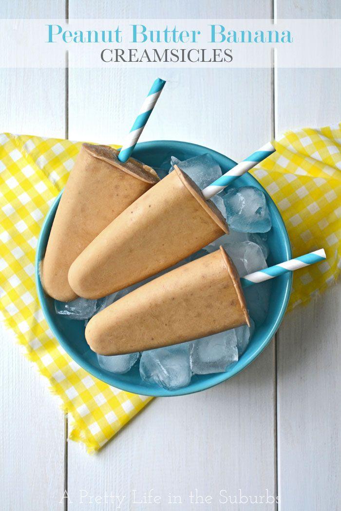 Peanut Butter Banana Creamsicles