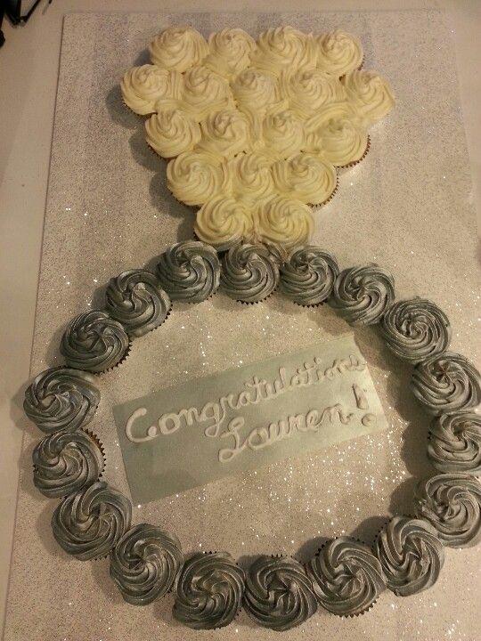 Bridal Shower Ring Cupcake Cake