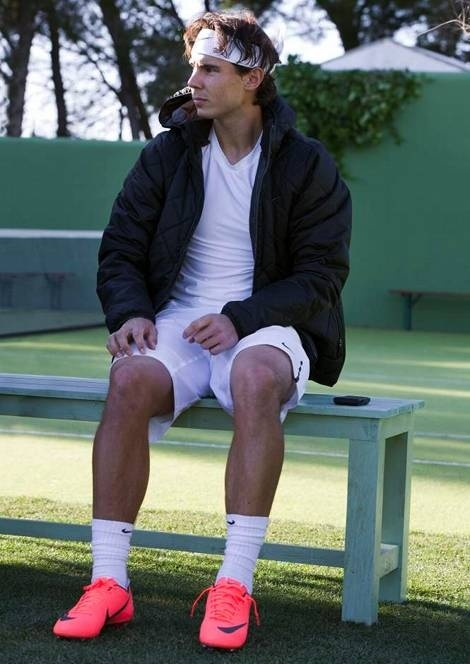 Rafael Nadal challenges Cristiano Ronaldo for a Tennis Match using the new Nike Mercurial Vapor VIII, video coming soon, enjoy this image for now!