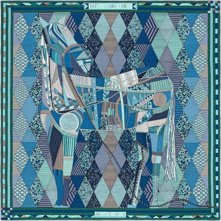Scarf 140 Hermès | Patchwork Horse