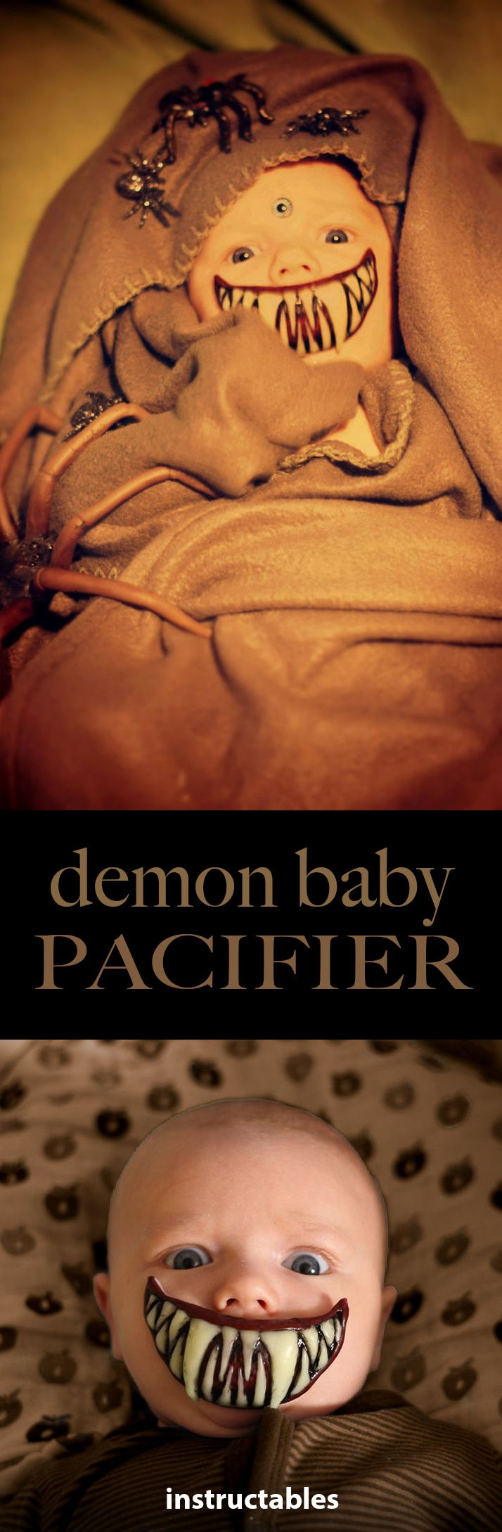 Demon Baby Pacifier Mouth Costumes Babies