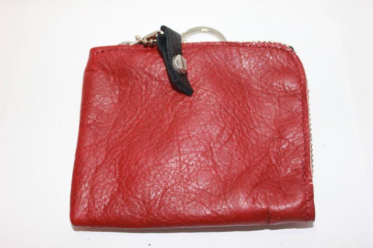 Portafoglio #leather #red #verapelle #original #madeinitaly