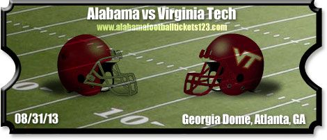crimson tide 2013 football game against virginia tec | vs Virginia Tech Football Tickets | 08/31/13 | Georgia Dome | Crimson ...