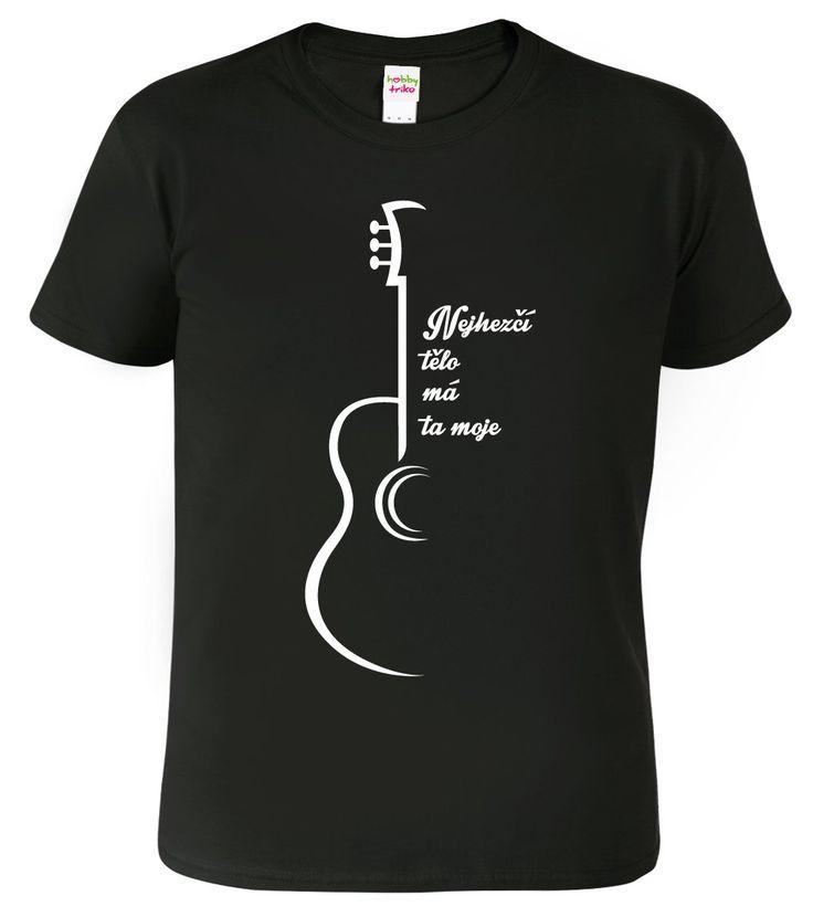 Vtipné tričko pro kytaristy.