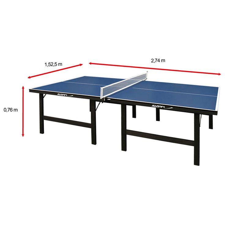 Mesa de Ping Pong / Tênis de Mesa Klopf - 15 mm Azul   Netshoes