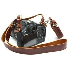 CEARI Premium Camera Leather Shoulder Neck Strap Belt   Storage Case Carrying Bag for Canon Nikon Pentax Olympus Sigma Sony Fujifilm Casio Panasonic DSLR Camera   MagicFiber Clean Cloth – Coffee