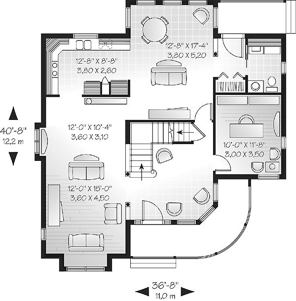 First Floor Plan of Victorian   House Plan 65256