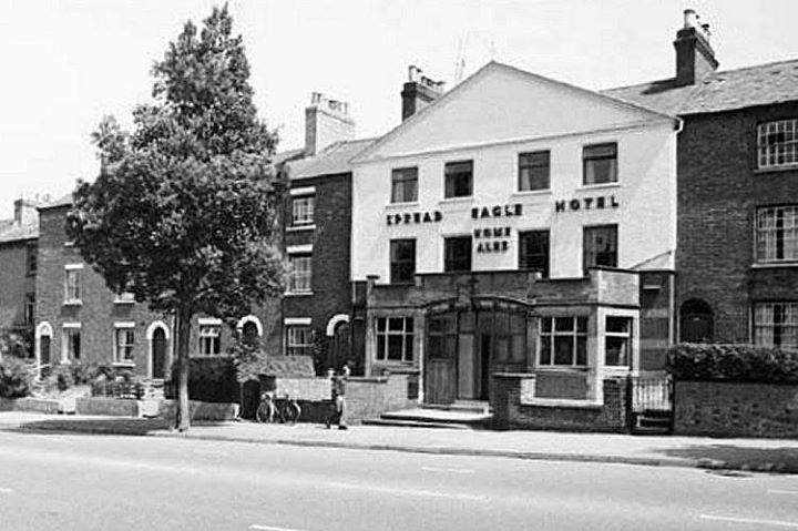 The Spread Eagle Hotel Alfreton Road c1955