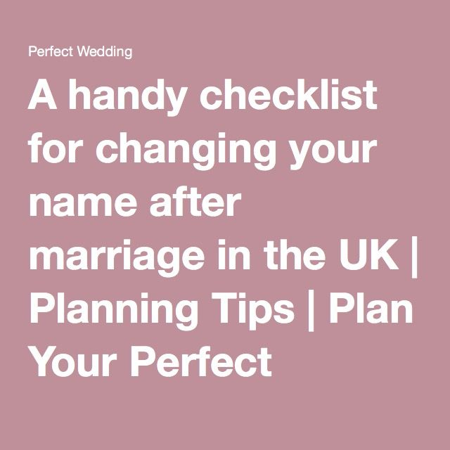 A handy checklist for changing your name after marriage in the UK | Planning Tips | Plan Your Perfect Wedding