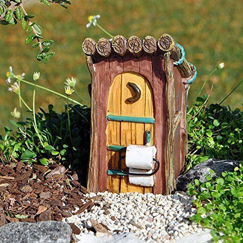 Miniature Dollhouse FAIRY GARDEN Furniture ~ Woodland Outhouse ~ NEW #Giftcraft