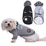 WIDEN Ropa Para Perros Negro / gris de invierno para el perro del gato ropa de perro capas de la chaqueta de perro