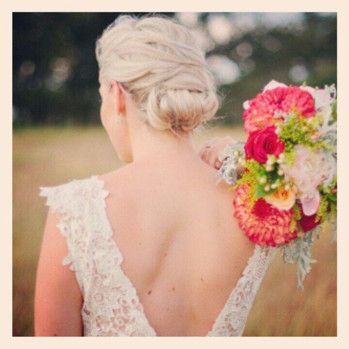 Beautiful bride back view #blonde #bridal #curls #hair #wedding #styledbymia
