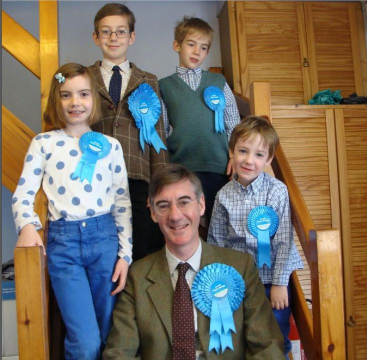 Mogg and the Mogletts. #awww