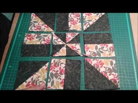 Dica de Sexta - Técnica Triângulos Perfeitos / Catavento (Tutorial Patchwork) - YouTube
