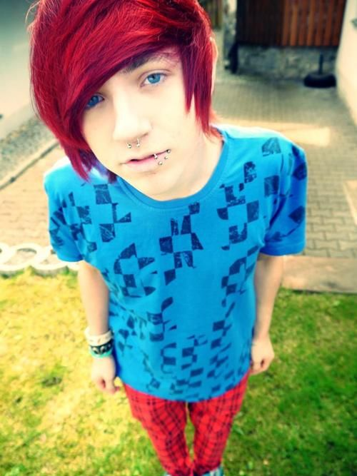 boy with dyed red hair - photo #32