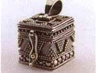 Zilveren bedel doosjes - Pillendoosje - As-sieraad