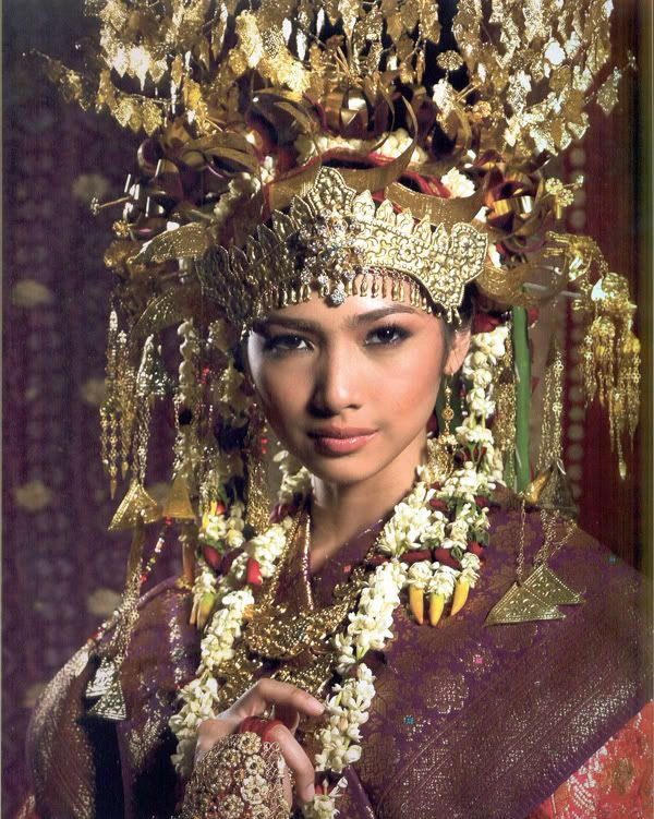 Traditional Wedding Headdress from Palembang, Indonesia