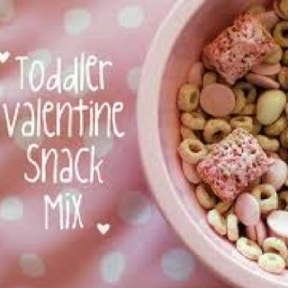 remember for snack week....Valentine snack mix. Cheerios, strawberry frosted wheat, yogurt melts, yogurt covered raisins. Could add dried cranberries, pink m&m;'s, etc.
