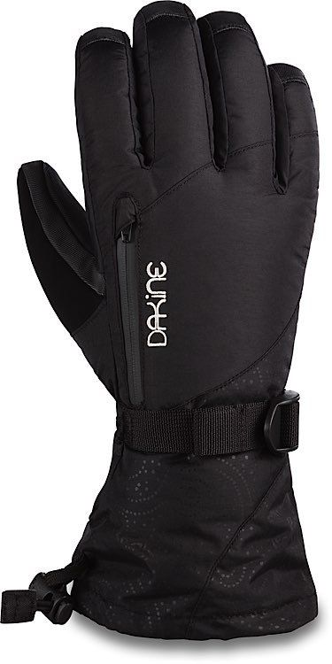 The Dakine Sequoia women's gloves feature a Gore Tex insert for complete waterproofness, breathability, and warmth. Insulation: High loft synthetic [ Glove 170 / 350g ] [ Mitt 170 / 350g ] Lining: 150