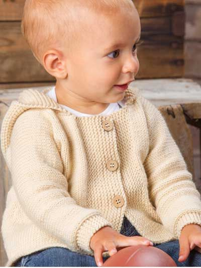 """ANNIE'S SIGNATURE DESIGNS: Happy Cheer Cardigan Knit Pattern - $5.49 download pattern -   This sweater is super easy to knit, making it perfect for the first-time sweater knitter! Knit with 4 (4, 5, 5) skeins of Plymouth Yarn® Dreambaby DK at a gauge of 24 sts and 32 rows per 4"""" using U.S. size 5/3.75mm needles. This pattern was orig..."""