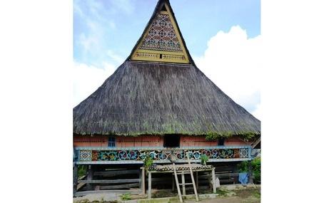A traditional longhouse, Desa Lingga