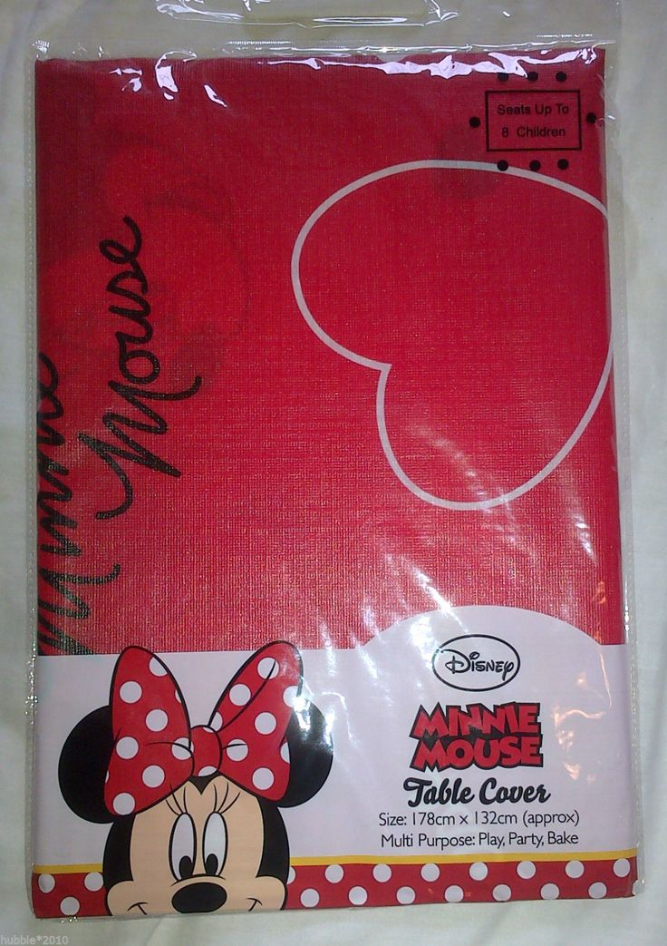 Disney Minnie Mouse Table Cover 178cm X132CM Wipe Clean Party Paint Bake New | eBay