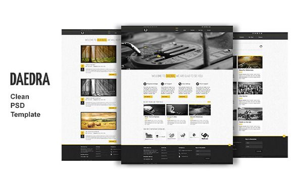 Daedra - creative portfolio Template - Websites - 1