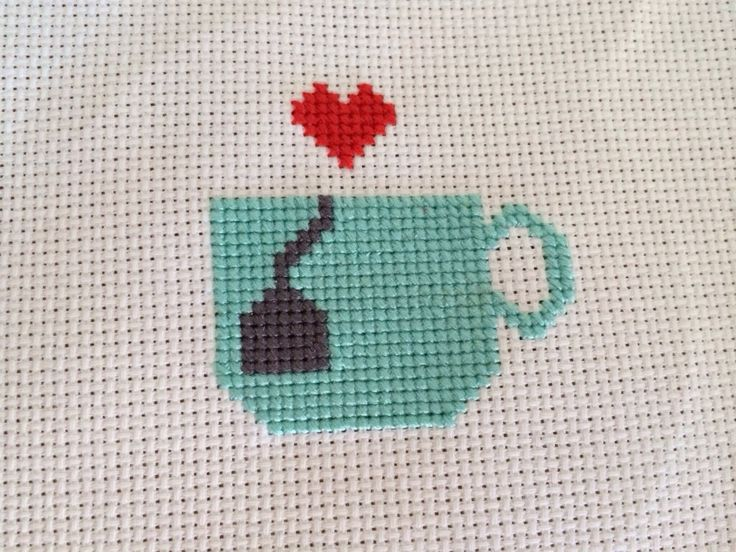 Free Pattern Friday - Tea Love Free cross stitch pattern from Hugs are Fun