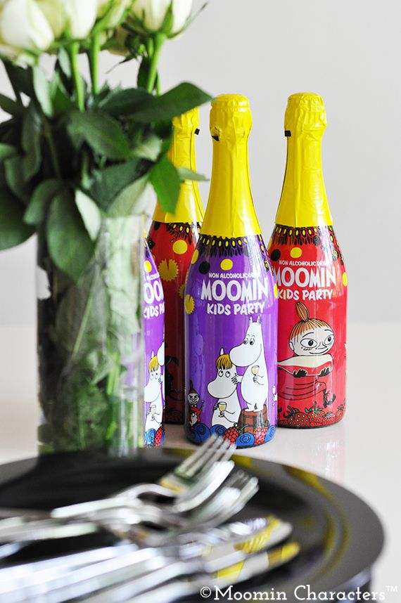 Moomin party drinks made in Finland using Finnish forest berries!