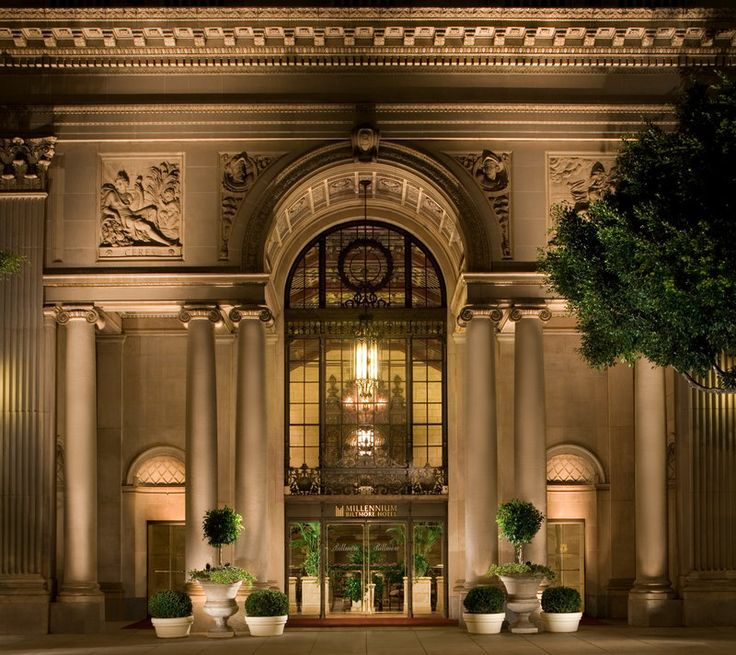Entrance to the Biltmore Hotel, Los Angeles CA