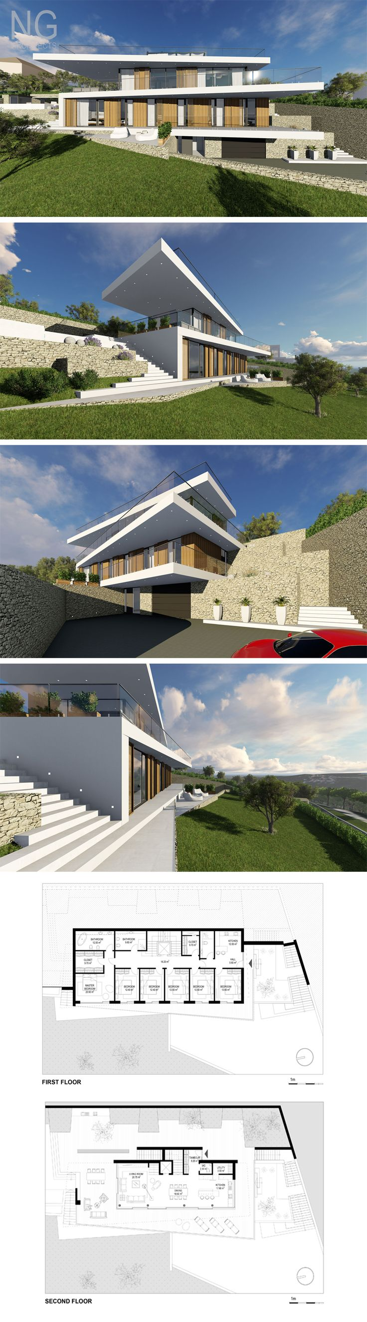 16 best modern villa design by ng architects images on pinterest