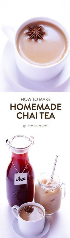 This Homemade Chai Tea recipe is easy to make, and is perfect for hot chai or iced chai.