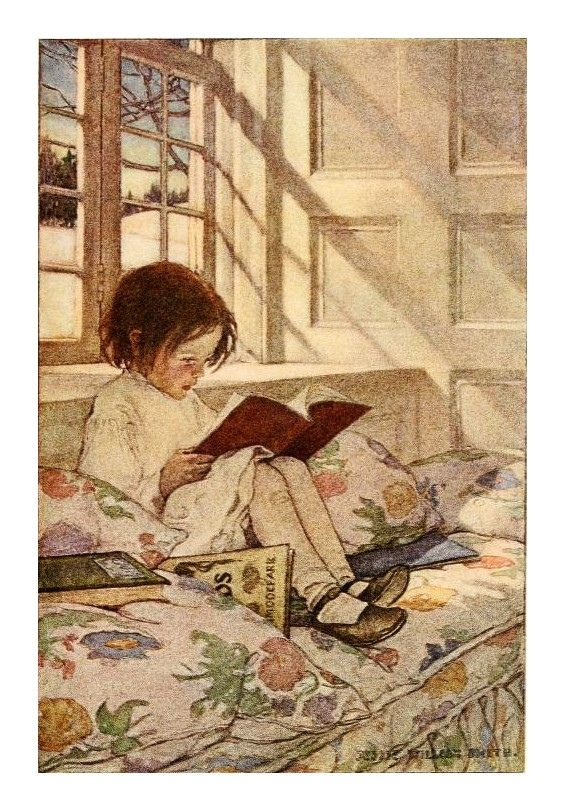 Illustration by Jessie Willcox Smith - for R.L.Stevenson ''A Child's Garden of Verses'' 1905