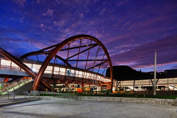 Gallery of Cidade Nova Metro Station and Footbridge / JBMC Architecture - 1