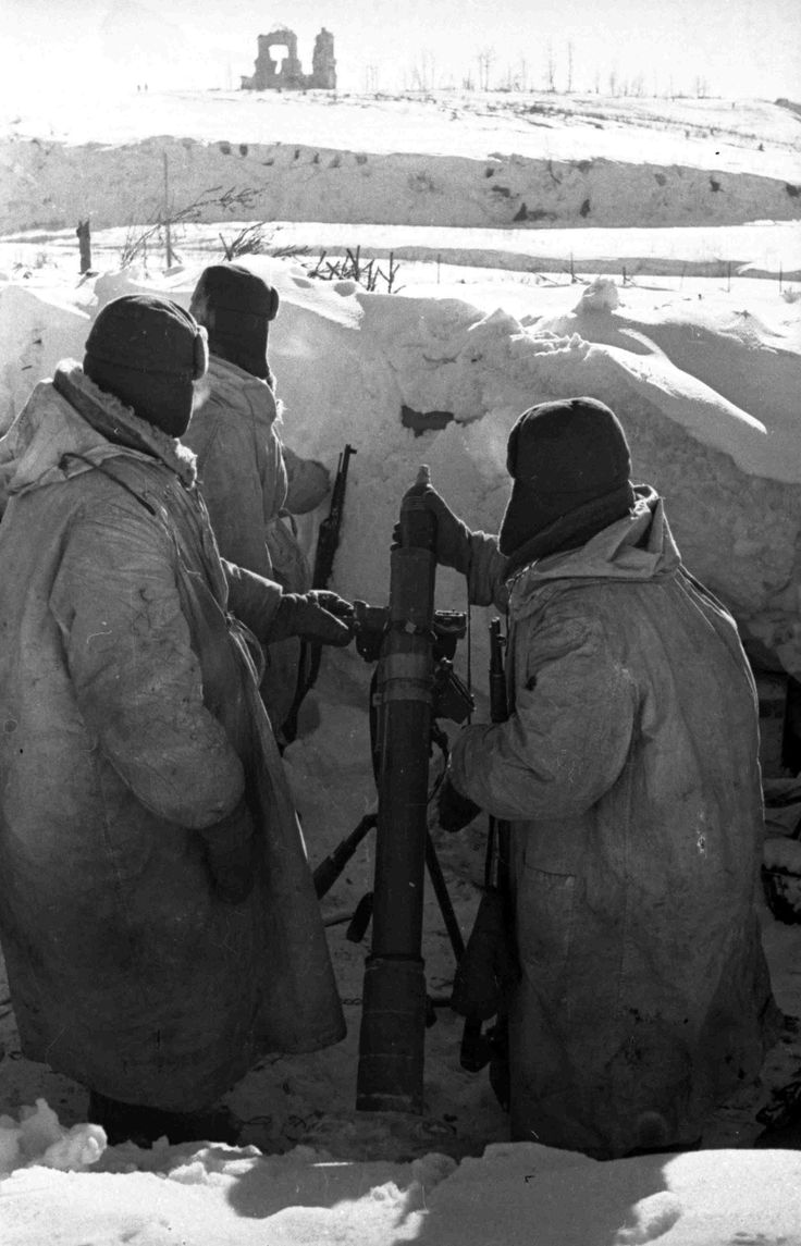 At unnamed height, 1942. The Kalinin front, winter. Russia, WW2