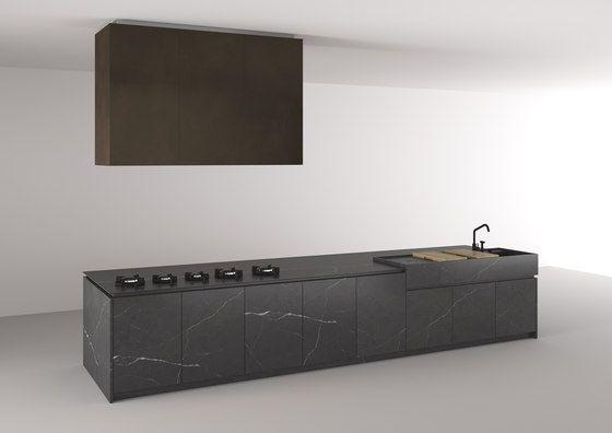 Plaatsing v werkblad en afwasbak - Boffi_Code Kitchen by Boffi | Island kitchens