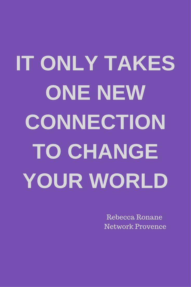 One contact networking can change your world.