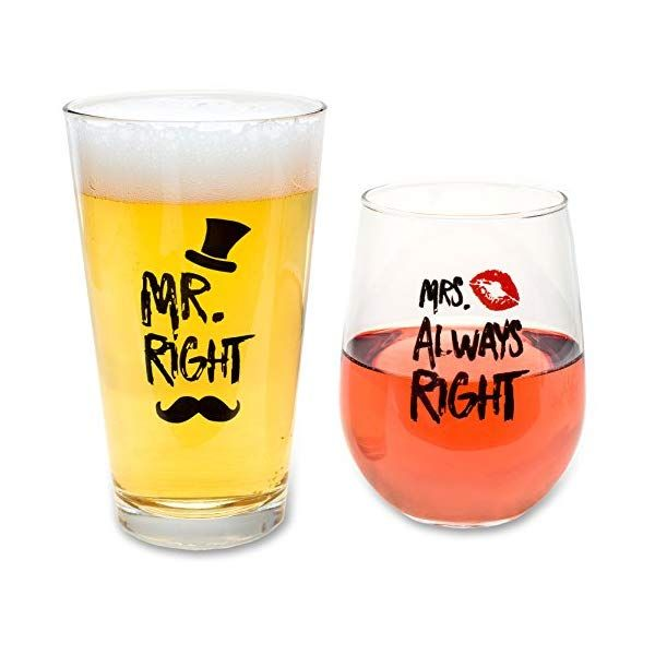 Funny Wedding Gifts Mr Right And Mrs Always Right Novelty Wine