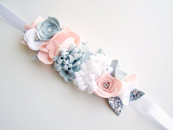 Flower Crown Girls Floral Hairband Toddler by VictoriasClass