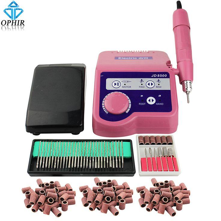 OPHIR PRO 65W 35000RPM Electric Nail Drill Machine Manicure Pedicure Machine Nail File Drill Bits Kits Nail Art Tool _KD157P+