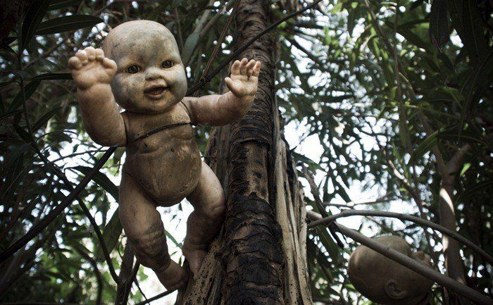 Just south of Mexico City there is a small island, hidden deep within the canals of Xochimico, known locally as Isla de las Munecas, The Island of the Dolls. Up until 2001 the only permanent inhabitant of the island was Don Julián Santana Barrera.