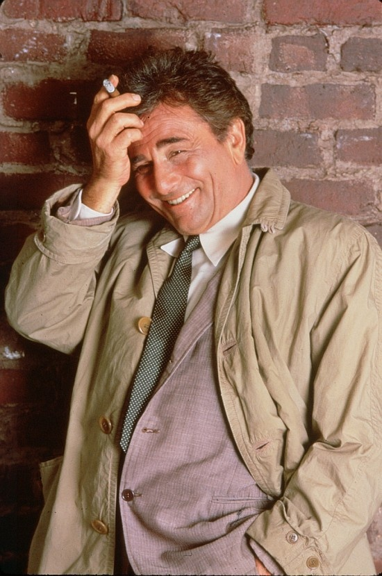 """The wonderful Columbo in his rumpled trench coat - """"just one more thing""""...R.I.P. Peter Falk"""