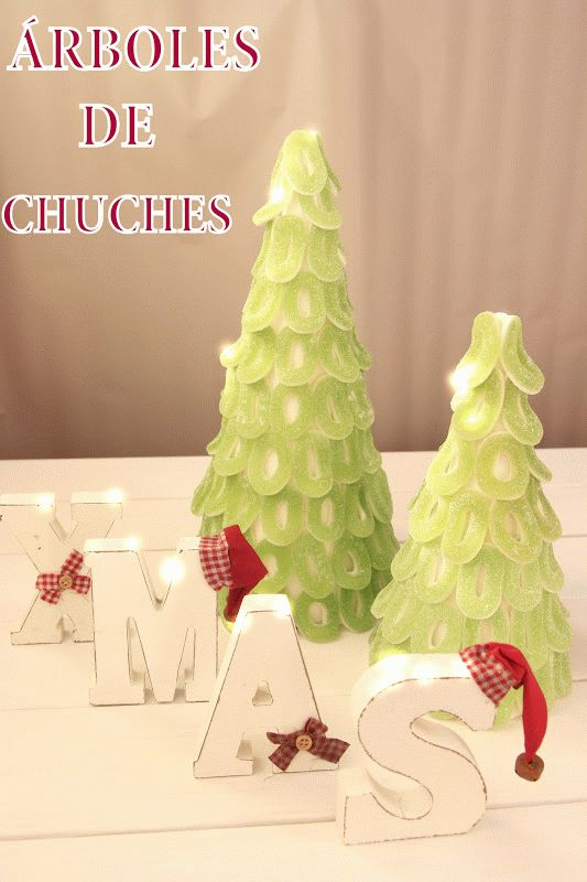 Árboles de Navidad Sugar Christmas trees Tutorial diy.html