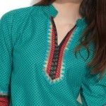 Simple Neck (Gala) Designs 2015 for Ladies Suits Catalogue