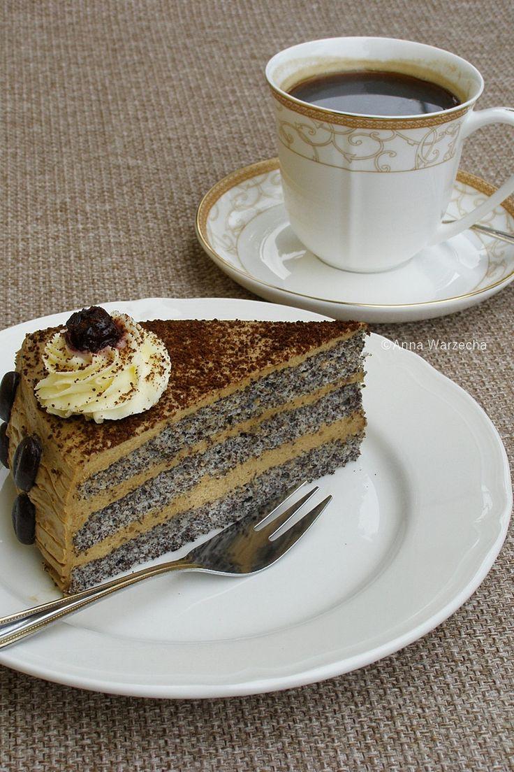 Tort makowo - kawowy - Wiem co jem