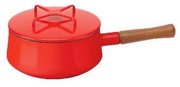Kobenstyle Chili Red Two Quart Saucepan, bright red saucepan, pantone cherry tomato