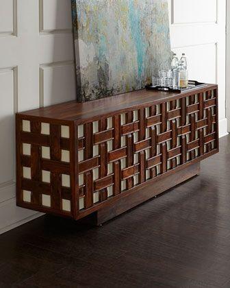 Kenny Basketweave Sideboard by Global Views at Neiman Marcus.