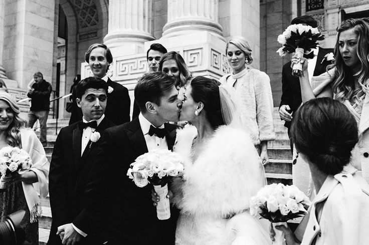 A Manhattan wedding with a couple as chic as these two is bound to be a glamorous affair. Combine this stunning coupleand the classic backdropof the city with flawlessphotography fromTrent Bailey Photographyand you've got a wedding seriously worth lusting over.