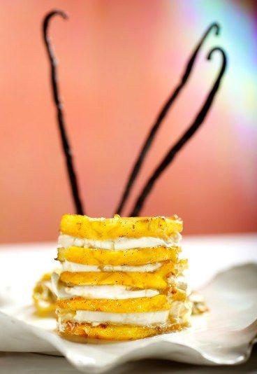 #Ananas arrosto con vaniglia e zenzero  #dessert